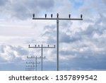 the approach lighting system of ... | Shutterstock . vector #1357899542