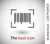 barcode icon vector...