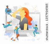 online doctors or telemedicine...   Shutterstock .eps vector #1357934585