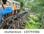 Thai Train On River Kwai Bridg...