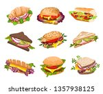 healthy sandwiches collection... | Shutterstock .eps vector #1357938125