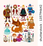set of fairy tale element icons | Shutterstock .eps vector #135794642