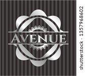 avenue silvery emblem   Shutterstock .eps vector #1357968602