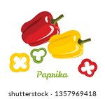 pepper red and yellow. paprika. ... | Shutterstock .eps vector #1357969418