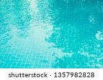 light blue pool texture with... | Shutterstock . vector #1357982828