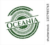 green oceania rubber stamp | Shutterstock .eps vector #1357985765