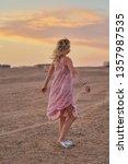 deserted beauty. girl  woman in ... | Shutterstock . vector #1357987535