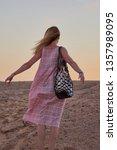 deserted beauty. girl  woman in ... | Shutterstock . vector #1357989095