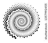 design spiral dots backdrop.... | Shutterstock .eps vector #1357992455