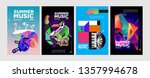 summer colorful art and music... | Shutterstock .eps vector #1357994678