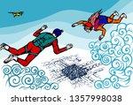 vector illustration depicting... | Shutterstock .eps vector #1357998038