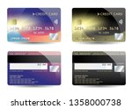atm  bank  credit card ... | Shutterstock .eps vector #1358000738