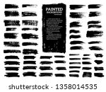 painted grunge stripes set.... | Shutterstock .eps vector #1358014535