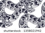 snakes. beast seamless pattern. ... | Shutterstock .eps vector #1358021942