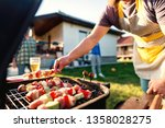 close up of grilled vegetables... | Shutterstock . vector #1358028275