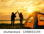 friendship of young women... | Shutterstock . vector #1358031155