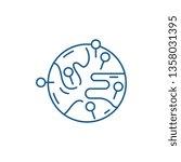worldwide sales market line... | Shutterstock .eps vector #1358031395