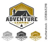 camping and hiking emblem... | Shutterstock .eps vector #1358065298