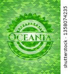 oceania green emblem with... | Shutterstock .eps vector #1358074235
