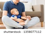 family  fatherhood and... | Shutterstock . vector #1358077112