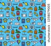 travel seamless pattern of... | Shutterstock .eps vector #1358079005