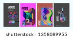summer colorful art and music... | Shutterstock .eps vector #1358089955