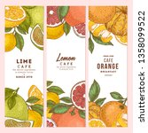 citrus colored vertical design... | Shutterstock .eps vector #1358099522