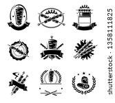 kebab labels and elements set.... | Shutterstock .eps vector #1358111825