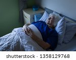 side view of a senior caucasian ... | Shutterstock . vector #1358129768
