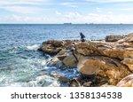 Rocky Sea Coast With Fishermen...