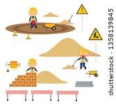 a children's style illustration ...   Shutterstock .eps vector #1358139845