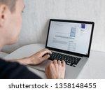 back view portrait of... | Shutterstock . vector #1358148455