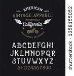 handmade textured modern font... | Shutterstock .eps vector #1358155052