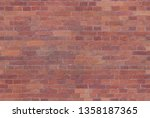 seamless brick wall texture for ... | Shutterstock . vector #1358187365