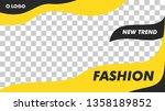 modern fashion beauty banner...   Shutterstock .eps vector #1358189852