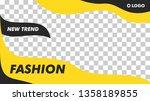 modern fashion beauty banner...   Shutterstock .eps vector #1358189855