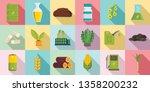 bio fuel icons set. flat set of ... | Shutterstock .eps vector #1358200232