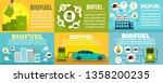 bio fuel station banner set.... | Shutterstock .eps vector #1358200235