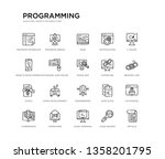 set of 20 line icons such as... | Shutterstock .eps vector #1358201795
