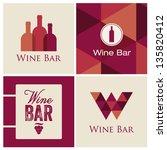 wine bar restaurant illustration | Shutterstock .eps vector #135820412