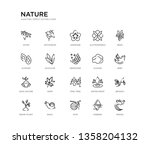 set of 20 line icons such as... | Shutterstock .eps vector #1358204132
