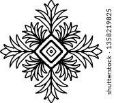 cross doodle sketch black and... | Shutterstock .eps vector #1358219825