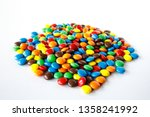 A Pile Of Colored Smarties