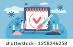 vaccination vector illustration.... | Shutterstock .eps vector #1358246258