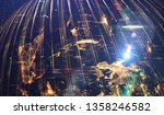 abstract background  shiny... | Shutterstock . vector #1358246582