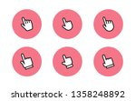 hand clicking icons collection | Shutterstock .eps vector #1358248892