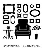 silhouette of the interior in... | Shutterstock .eps vector #1358259788