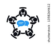brainstorming and teamwork icon.... | Shutterstock .eps vector #1358264612