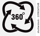 icons 360 degree rotation ... | Shutterstock .eps vector #1358269148