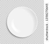 empty white plate isolated on... | Shutterstock .eps vector #1358270645